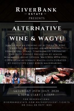 Alternate Wines and Wagyu Dinner - 25th July 2020